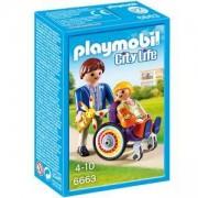 Комплект Плеймобил 6663 - Дете в инвалидна количка - Playmobil, 291211