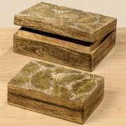 Boltze Krabičky farn ze dřeva mangovníku, 2 ks