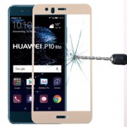 Huawei P10 Lite 0.3mm 9H Surface Hardness 2.5D Curved Silk-screen Full Screen Tempered Glass Screen Protector(Gold)