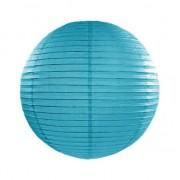 Geen Bol lampion turquoise blauw 25 cm