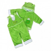 Csecsemő téli együttes New Baby mackó zöld-fehér