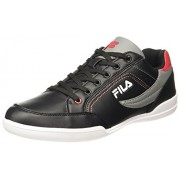 Fila Men's Baker II Black/Grey/Red Sneakers - 8 UK/India (42 EU)
