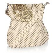 Pick Pocket Women's Sling Bag ( Off-White,slgoldot699)