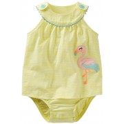 Carter's - Rochita Flamingo Sunsuit