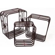 Boekenrek - Metalen boeken rekken Zwart - Set van 3 - 38,5 cm hoog