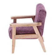 Phenovo 1:12 Wooden Single Sofa Double Couch Dollhouse Miniature Furniture Accessory - Purple, as described