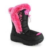 Cizme de zapada fetite apres ski negru roz