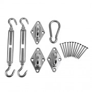 Electroprime® 304 Stainless Steel Sun Shade Sail Hardware Kit Accessory for Triangle Sails