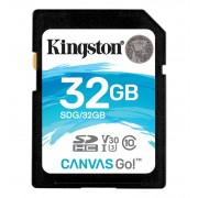 Kingston SDHC Canvas Go 90R/45W CL10 U3 V30, 32GB