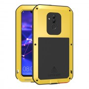 LOVE MEI Dust-proof Shock-proof Splash-proof Powerful Metal + Silicone Defender Case for Huawei Mate 20 Lite / Maimang 7 - Yellow