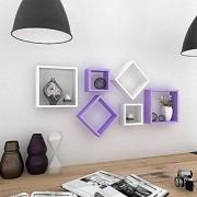 Onlineshoppee Square Nesting Wooden Wall Shelf Size(LxBxH-11x4x11) Inch