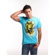 Plastik Clothing Toxic Short Sleeved T Shirt Turquoise