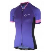Női prémium jersey Rogelli FLOW rövid ujj, lilás-rózsaszínes 010.175.