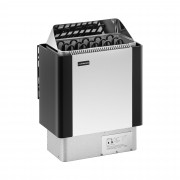 Estufa para sauna - 8 kW - de 30 a 110 °C - visera de acero inoxidable