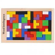 Arshiner Geometric Sorting Board Wooden Shape Sorter 20PCS Puzzle Building Block Toy Bricks for kids