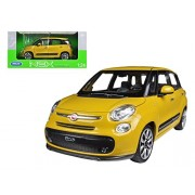 2013 Fiat Yellow 500L 1/24 by Welly 24038