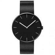 Harilla Negro Simple Pareja Reloj de Pulsera Pareja Negocios Cuarzo Hombres Relojes de Pulsera