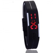 Stylish LED Digital Fashion Ultra Thin Designer Sports Black Watch for Men Women 6 MONTH WARRANTY