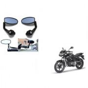 Kunjzone Premium Quality Motorycle Bar End Mirror Rear View Mirror Oval for Bajaj Pulsar 180