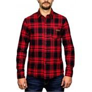 Hydroponic Shirt pentru bărbați cu mâneci lungi Kingdom Red/Black M