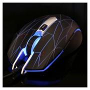 Aula Serie En Secreto Lucha Con Cable USB Colorido Luz Optical 6D Juego Mouse, Resolucion Maxima De 2000 DPI (plata)