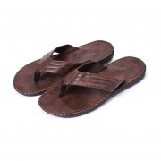 Moda Sandalias suela antideslizante hombre Sandalia Slip-on zapatillas zapatos costera Negro