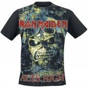 Iron Maiden Aces High T-shirt zwart