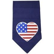 Mirage Pet Products Bandana con diseño de Bandera de Estados Unidos, impresión en Forma de corazón, Azul Marino, Grande