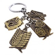 Attack on titan All Houses Logo Keychain