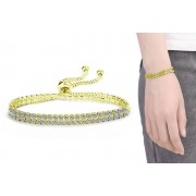 Double Wrap Bracelet Made with Crystals from Swarovski® - 3 Colours
