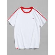 zaful T-shirt ¨¤ manches contrastantes et manches raglan