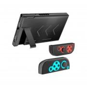 Redlemon Funda Protector Aluminio Nintendo Switch Y Joy-Con - Negro