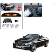 Auto Addict Car Silver Reverse Parking Sensor With LED Display For Mercedes Benz E-Class