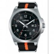 Lorus Montre-bracelet Lorus RH941KX-9 Black Nylon Fabric Strap Quartz/inox