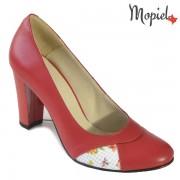 Pantofi dama din piele naturala 241506/56/Rosu/Camea
