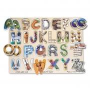 Puzzle Alfabet Art Melissa and Doug, 26 litere