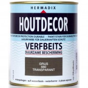 Hermadix houtdecor 660 transparant grijs 750 ml