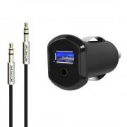 Convertor audio StrikeDrive MFI pentru dispozitive Lightning (Negru)