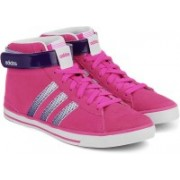 ADIDAS NEO DAILY TWIST MID W Mid Ankle Sneakers For Women(Pink, Purple, White)