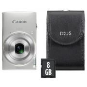 Aparat Foto Digital Canon IXUS 190 Essential Kit, 20 MP, Filmare HD, Zoom optic 10x (Argintiu)