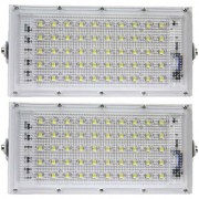 HI Bright Metal 50 Watt 220-240V Waterproof Landscape IP65 Perfect Power LED Flood Light (White)-Pack Of 2
