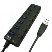 L-Link LL-UH-307 Hub 7 Portas USB 3.0 com Alimentação e Interruptores