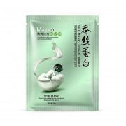 Hidrodinámica De Seda Facial Mask Whitening Moisturizing Abrillantador Combinación Skin Care Oil-control Anti-envejecimiento Acné Treatment-Green