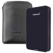 """Intenso Memory Drive Externe Festplatte 2,5"""" 1TB USB 3.0 schwarz inkl. Tasche"""
