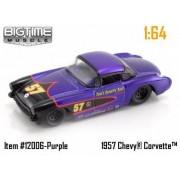 Jada Dub City Big Time Muscle Purple 57 Chevy Corvette 1:64 Die Cast Car