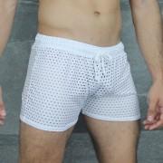 McKillop Shade Glory Sheer Shorts White CSHQ-WH2