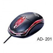 Ad-Net AD-201 Wired Optical Mouse (USB Black) 1000 DPI With 1 Year Warranty