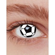 Vegaoo Fotboll kontaktlinser vuxen One-size