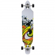 Лонгборд [pro.tec]® Cruising Board skateboard 104 x 23 x 9,5 cm Сив /Черен/Жълт