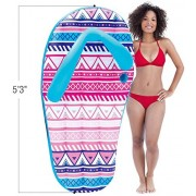 Matney Inflatable Pool Float Flip Flop - Perfect Lounger, Raft, Float for Pools, Lakes, Beaches, and Rivers - Great for Backyard, Pool Parties, Picnics, and more by Matney